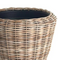 "Woven Rattan Dry Basket Planter 26.75"" x 20"" DS Only"