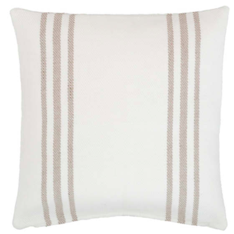 "22"" French Stripe Indoor/Outdoor Pillow"