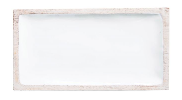 Rectangle Enameled Mango Tray