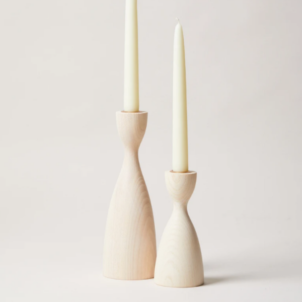 White Pantry Candlestick by Farmhouse Pottery (2 Sizes)