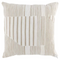 "22"" Ivory & Sand Transitional Stripe Pillow"