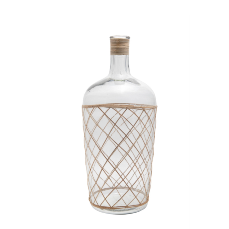 Bamboo and Glass Vase (3 sizes)