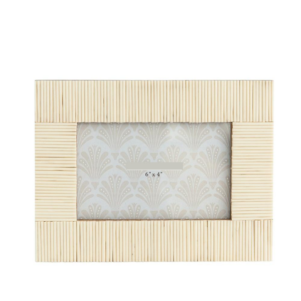 White Textured Resin Photo Frame, 4x6