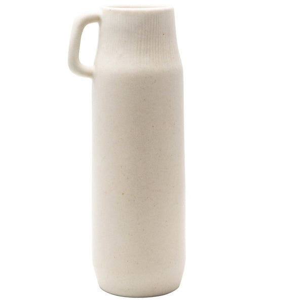 "11.75"" Tall Cream Pitcher with Handle"