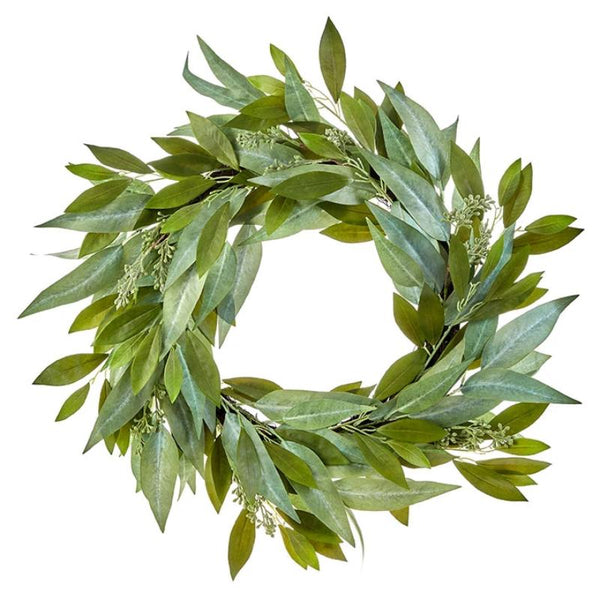 "29 "" Spring Seeded Eucalyptus Wreath"