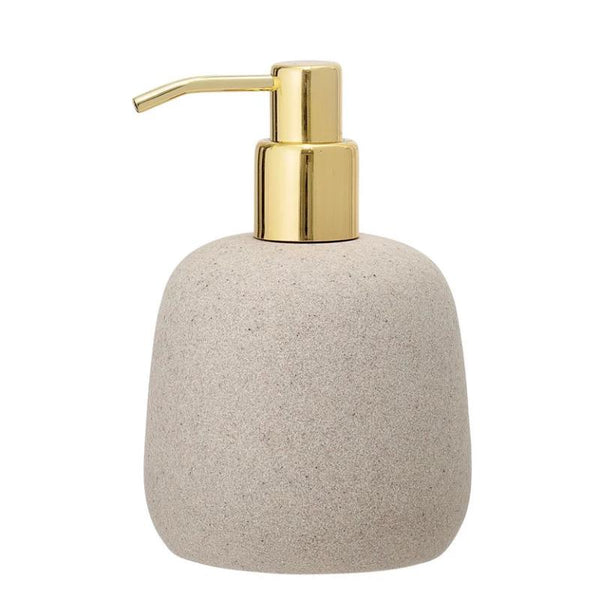 Resin Soap Dispenser with Gold Pump