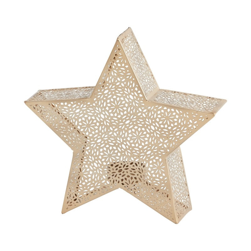 Gold Star Figure Glimmer T-Light (2 Sizes)