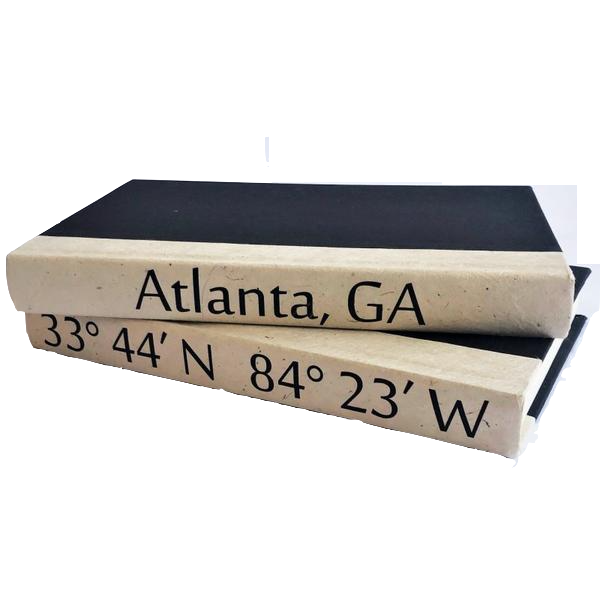 Atlanta Coordinates Book Stack