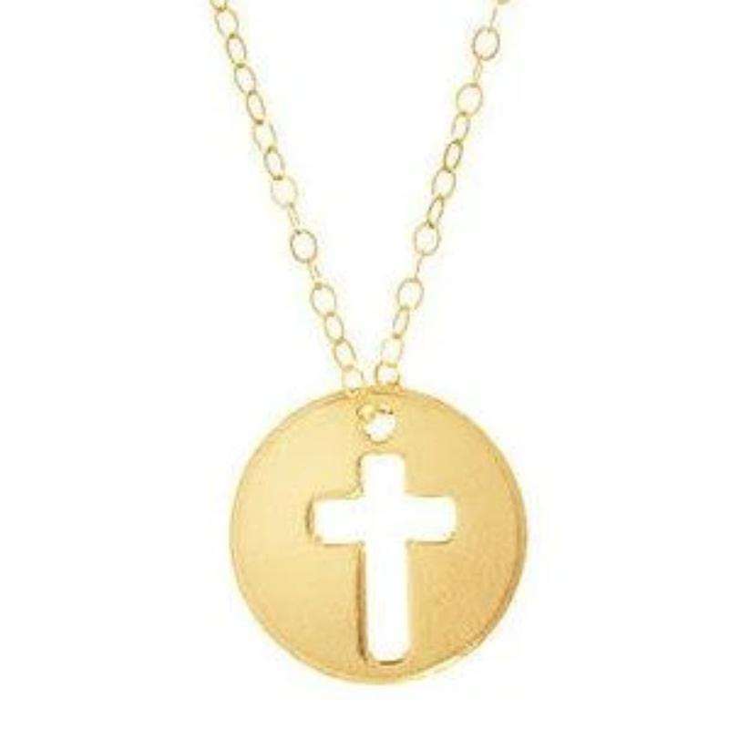 "16"" Gold Necklace- Blessed Charm"