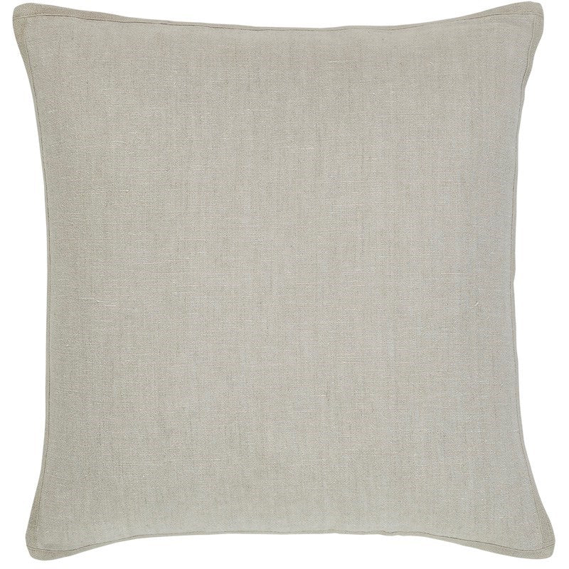 Natural Chambray Linen Pillow - 20x20""