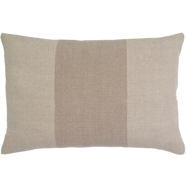 Pure Linen Stripe Lumbar Pillow -14x20