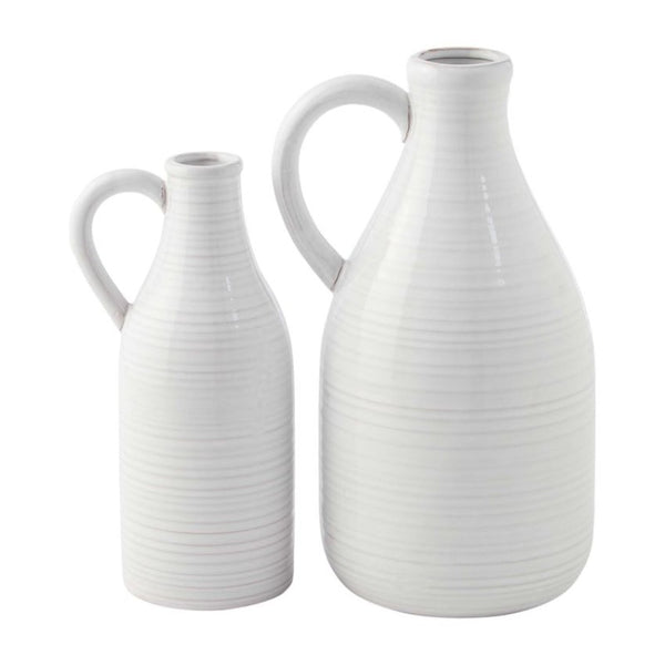 Ribbed Milk Jug Vase (2 Sizes)