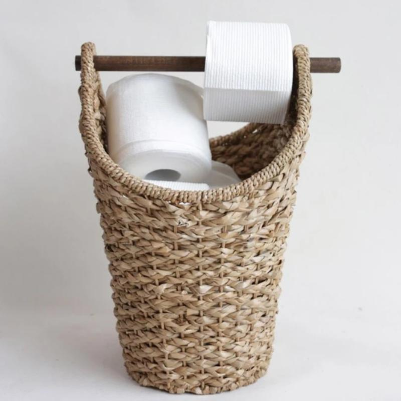 Tissue Basket with Wood Handle
