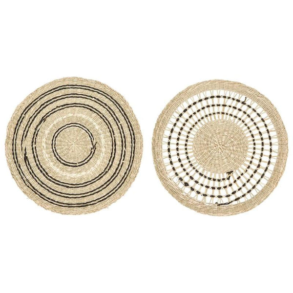 "15"" Round Hand-Woven Seagrass Placemat"
