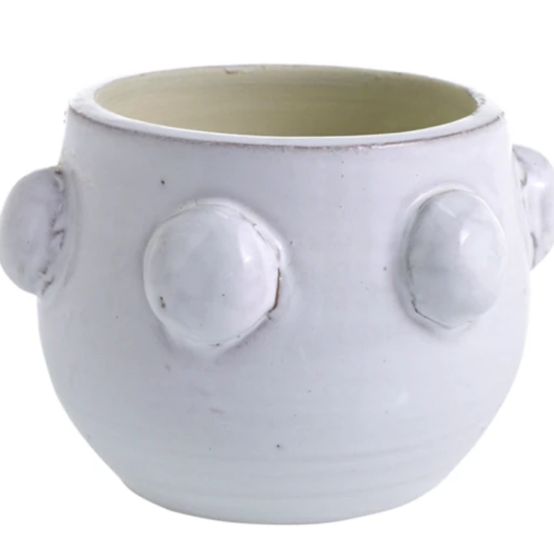 Small White Ceramic Dot Candle