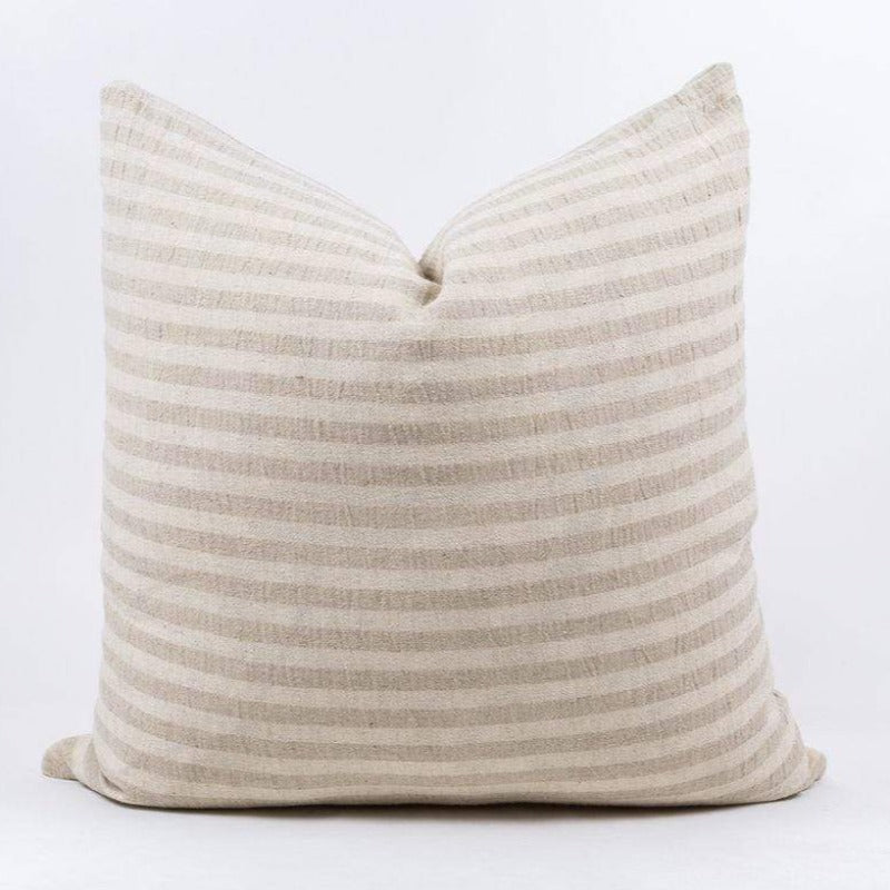 "Ang Cream Stripe Pillow (22"" x 22"")"