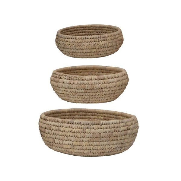 Round Grass & Date Leaf Basket (3 Sizes)