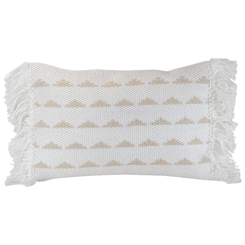 Indoor/ Outdoor Geometric Lumbar Pillow