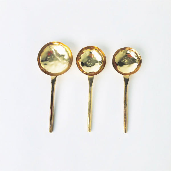 Gold Serving Spoons- Set of 3