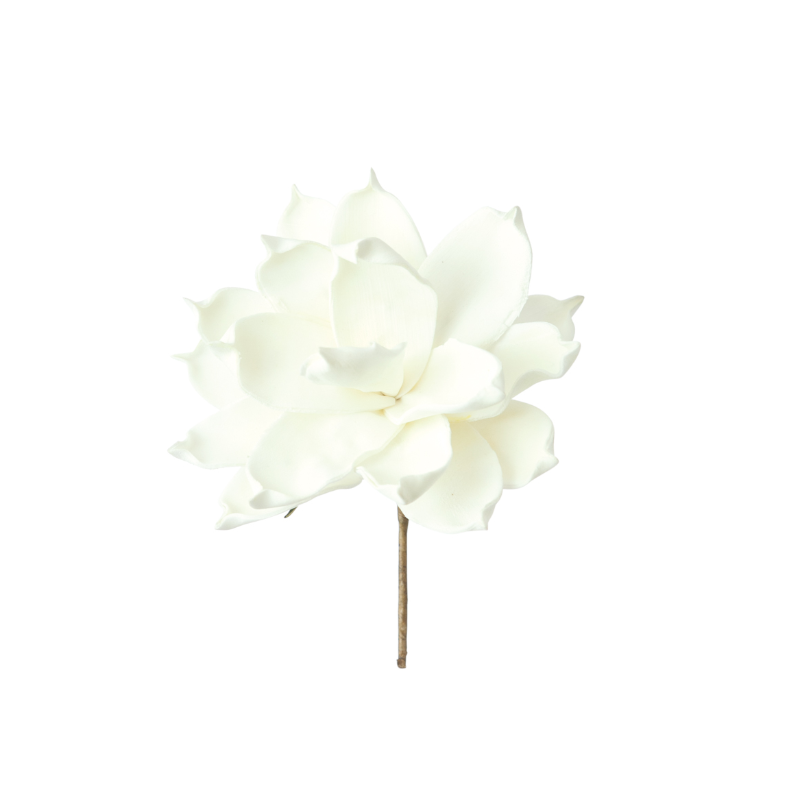 "6"" White Flower Pick"
