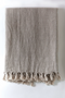 Organic Cotton Linen Throw- Natural, Pure White, Cream