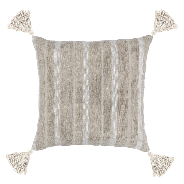 "22"" Stripe Tassel Pillow Maurice"