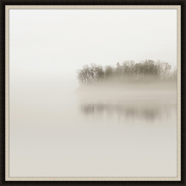 Trees with Fog 1 Wall Art- (Available in white frame) 44.25x44.25