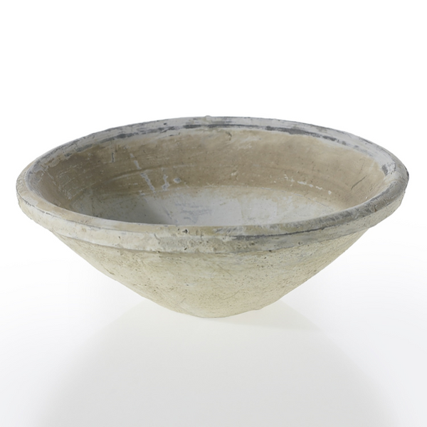 White Ceramic Garden Bowl