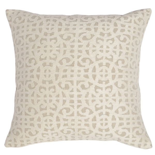 "22"" Embroidered Ivory Pillow"