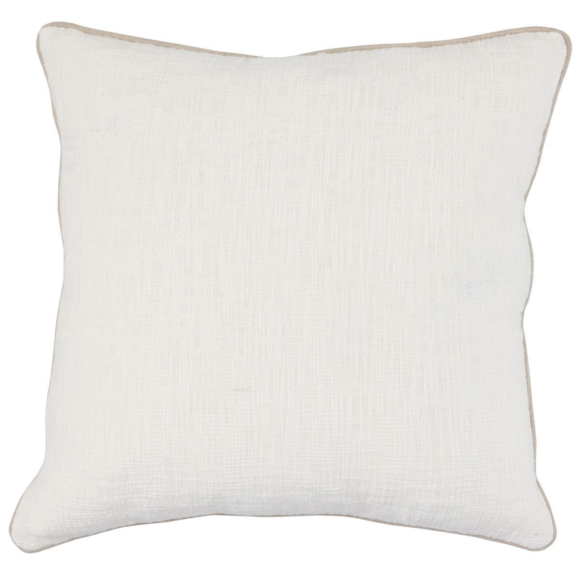 "Textured Pillow with Piping- 22""x22"" Alba"