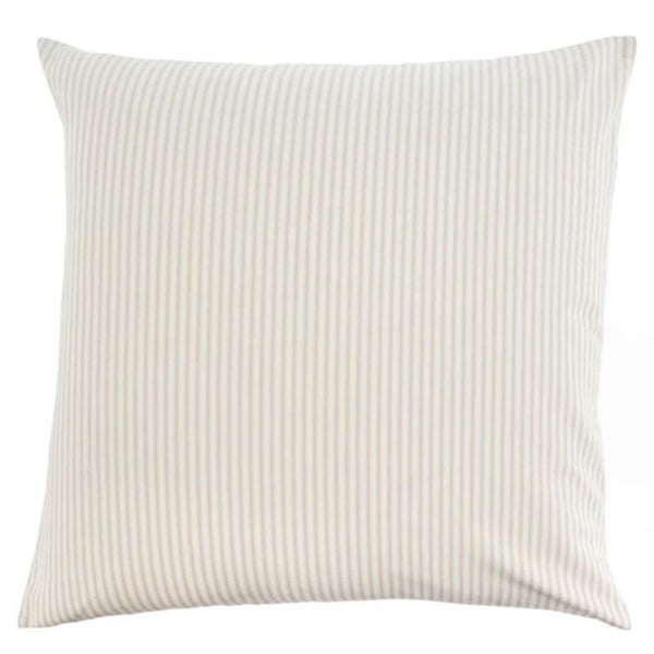 "24"" Ticking Pillow Cushion- Beige"