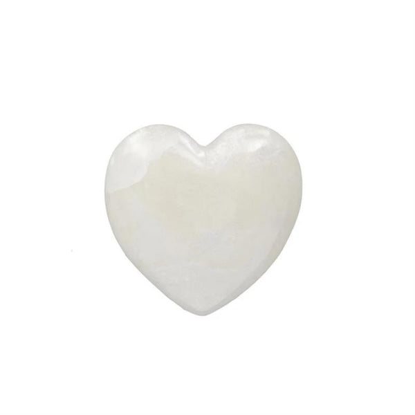 White Alabaster Heart