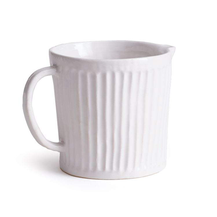 CHALK HILL FARMHOUSE RIDGED PITCHER- White