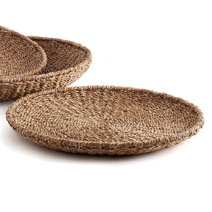 SEAGRASS ROUND FLAT TRAY