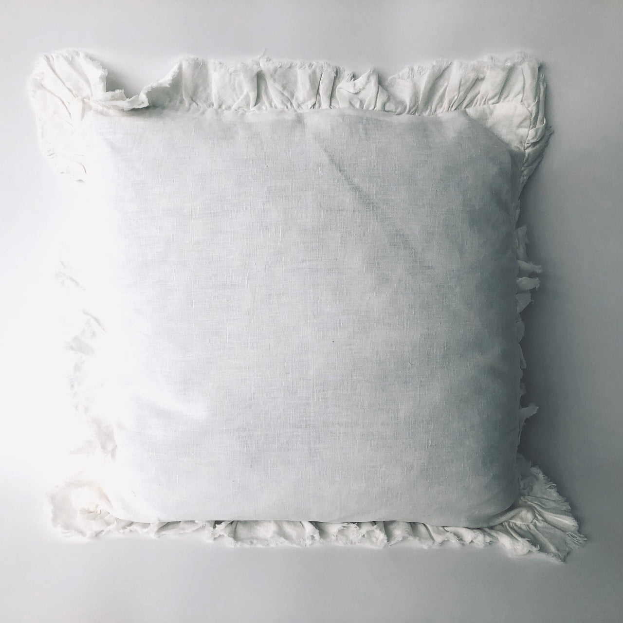 "20"" Linen Pillow with Ruffle Edge-20""x20"""