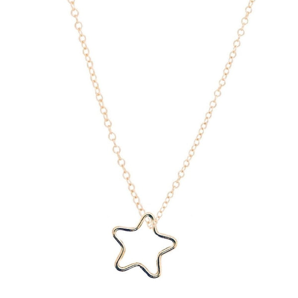 "16"" Gold Necklace- Star Charm"