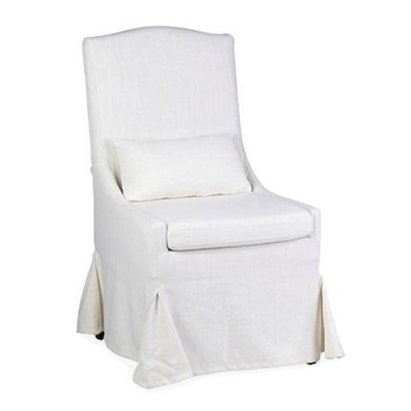 Dining Chair with Lumbar- Cream Linen 24x29.5x43""