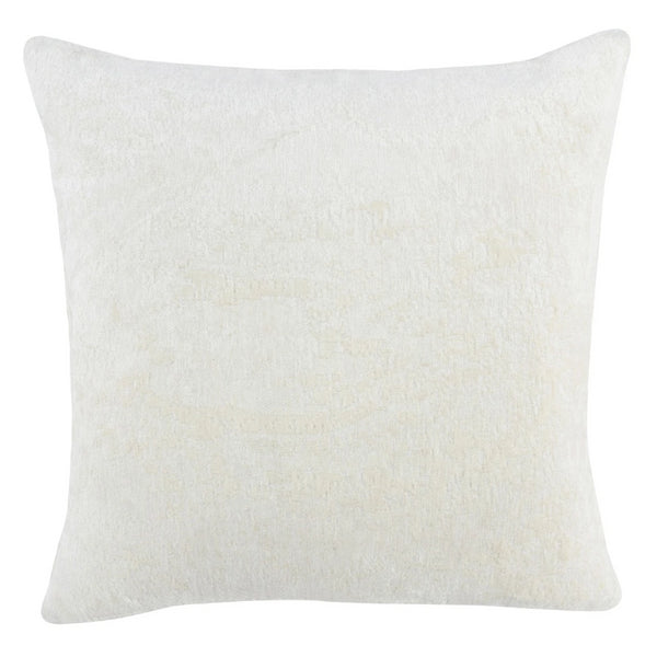 "22""x22"" Ivory Chenille Pillow"