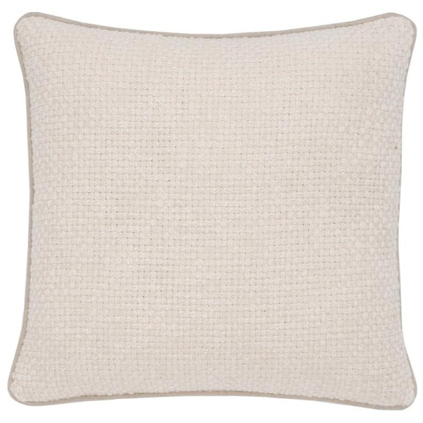 "18x18"" Ivory Pillow with Piping"