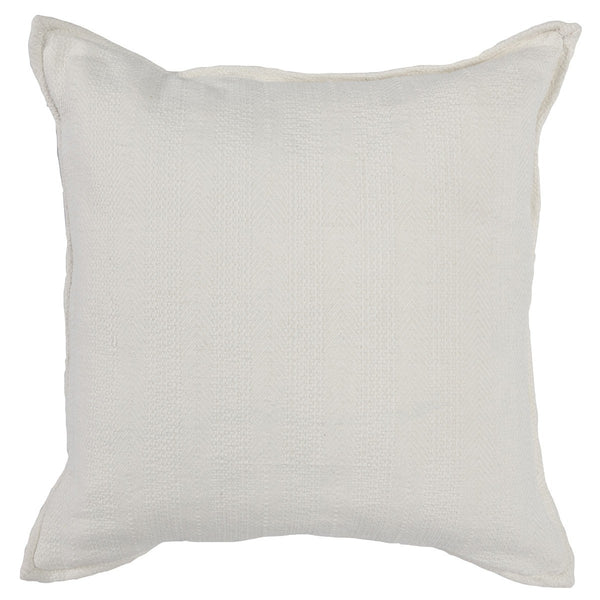 "Stonewased 18x18"" Pillow with Flange Detail"