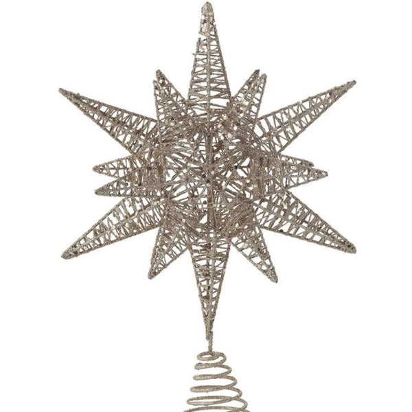 Gold Star Tree Topper w/ Glitter