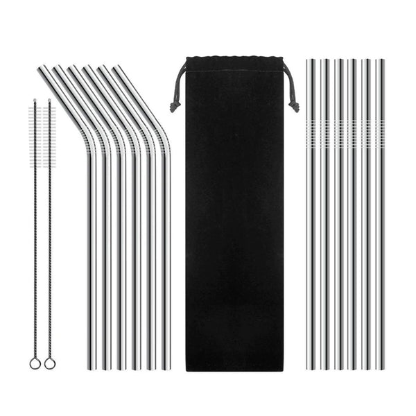 Zero-Waste Reusable Stainless Steel Straws