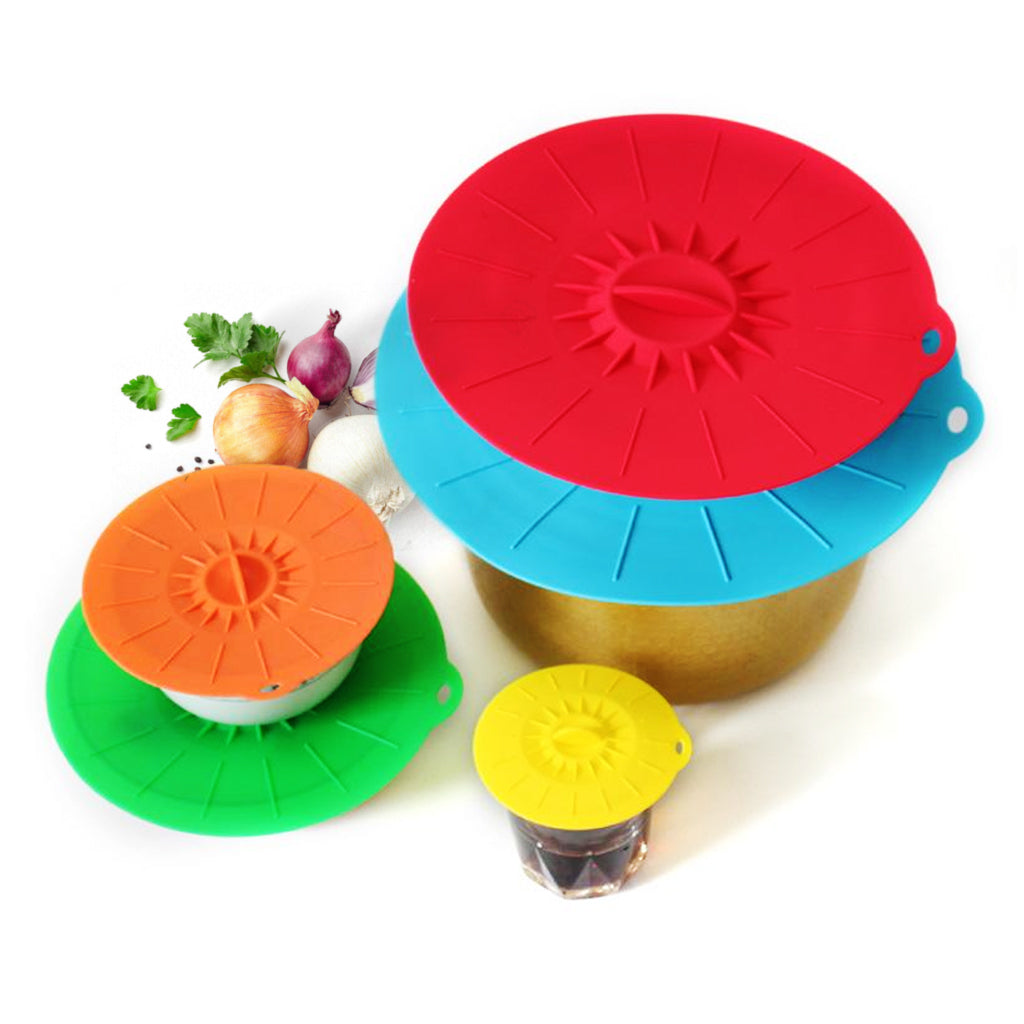 Zero-Waste Silicone Suction Lids (5pcs)