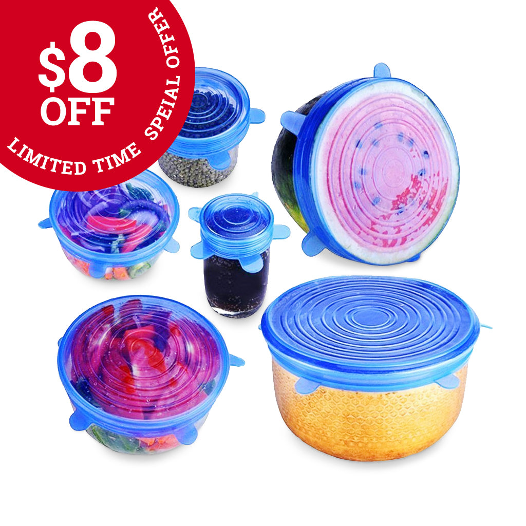 $8 OFF SPECIAL - Zero-Waste Reusable Food and Container Lids