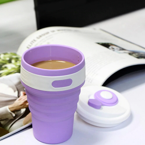 Reusable Collapsible Silicone Coffee Mug