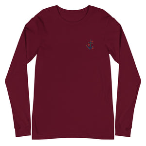 Anchor | Embroidered Unisex Long Sleeve Tee