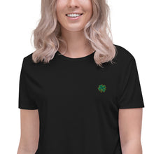 Load image into Gallery viewer, Create Your Own Luck | Embroidered Crop top tee