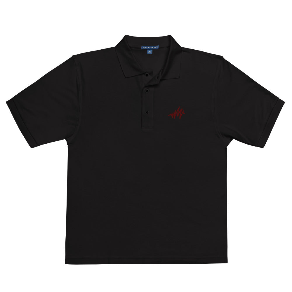 Waves | Embroidered Men's Premium Polo