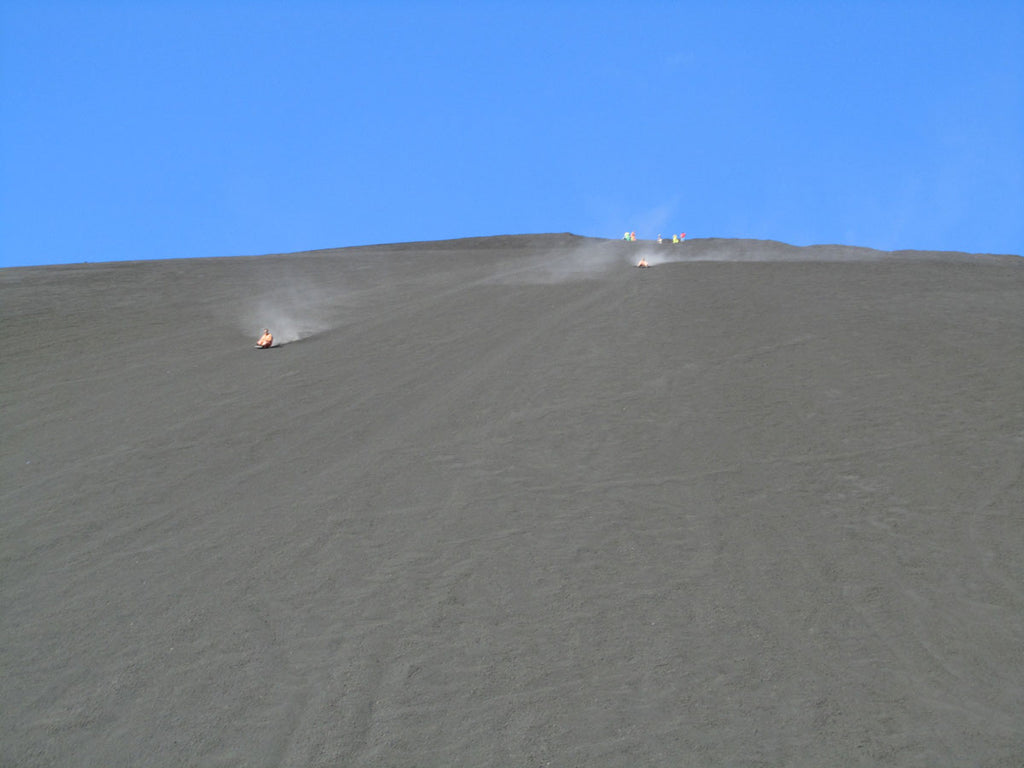 Volcano sledding down Cerro Negro