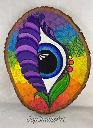 Custom Budding Eye on Wood Slice